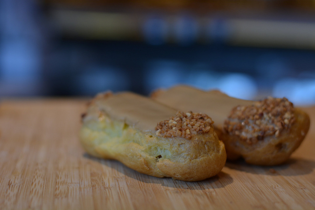Eclair met pudding & mokka - Bestelonline